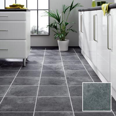 Anthracite tile laminate flooring