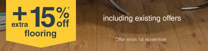 Spend and save on all Flooring when you spend £75+