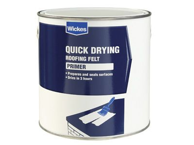 Brush applied quick drying roofing felt primer 2.5l