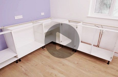 Fix plinths cornices and pelmets for Kitchen units without plinths