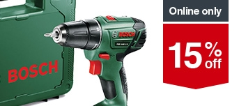 15% off  Selected Bosch Power Tools