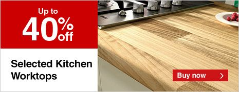 Solid Beech Worktop only £89 - Available to Click and Collect