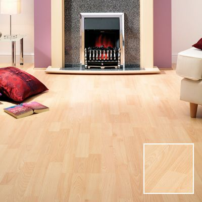 Beech effect laminate flooring