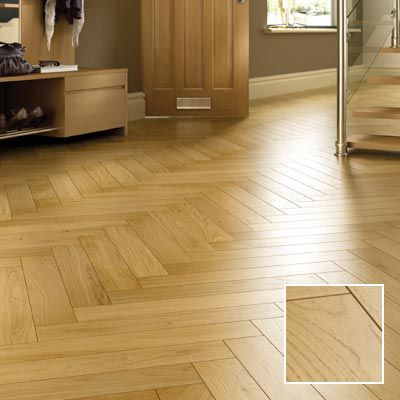 Herringbone natural oak engineered wood