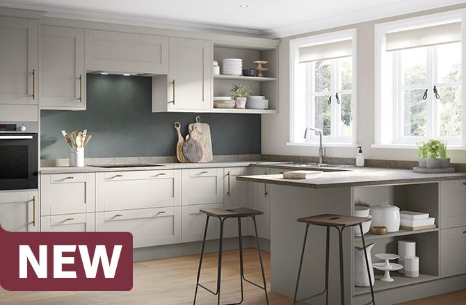 Oxford Pebble Grey Kitchen Range