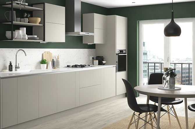 Richmond Pebble Grey True Handleless Kitchen Range