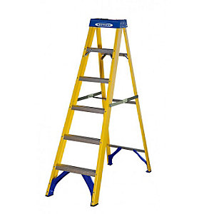 Werner Trade 6 Tread Fibreglass Step Ladder