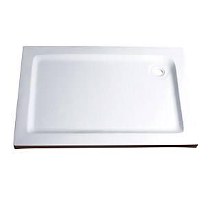 Wickes 55mm GRP Rectangular Shower Tray White 1700x900mm