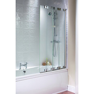Wickes Frameless Four Fold Bath Screen