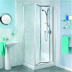 Wickes Bi-Fold Shower Enclosure Door Chrome Frame 760mm
