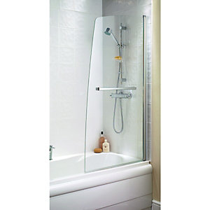 Wickes Half Sail Bath Screen Silver Effect Frame