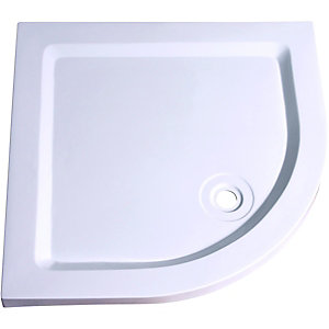 Wickes 55mm GRP Quadrant Shower Tray White 900mm
