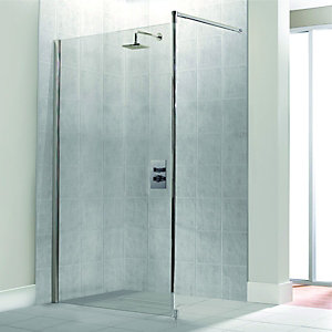 Wickes Single Fix Framed Shower Screen 1000mm