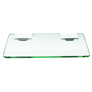 Wickes Rectangular Glass Shelf 300mm