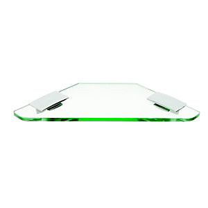 Wickes Corner Glass Shelf 220mm