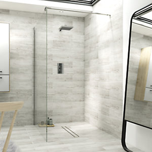 Wickes Single Fix Frameless Shower Screen 900mm