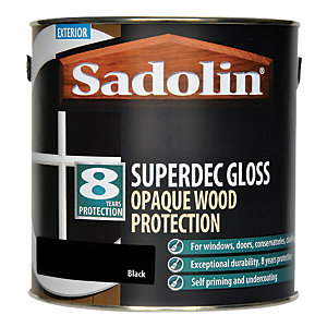 Sadolin Superdec Gloss Opaque Wood Protection Black 2.5 Litre