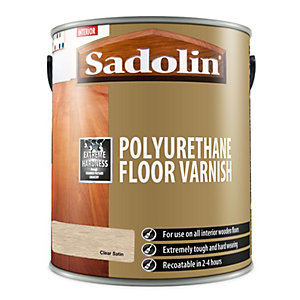 Sadolin Polyurethane Floor Varnish Clear Satin 5L