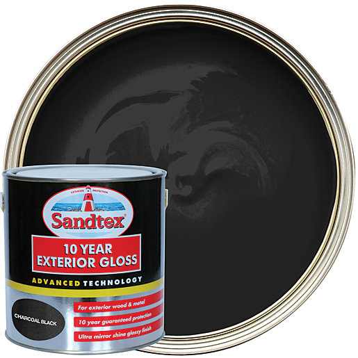Sandtex 10 Year Exterior Gloss Charcoal Black 2 5l