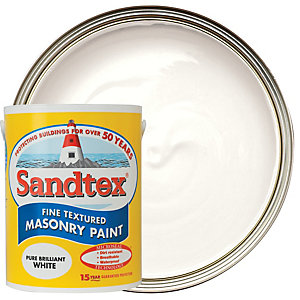 Sandtex Textured Masonry Pure Brilliant White 5L