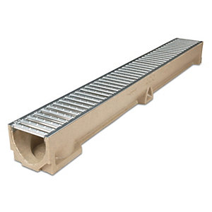 ACO Raindrain Channel Galvanised Grating 118mm x 97mm x 1000mm