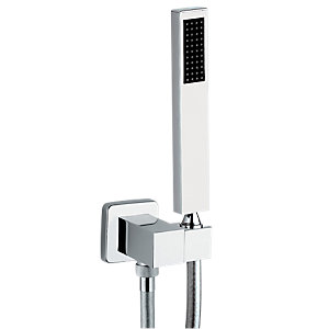 Abode AB2453 Square Combined Wall Outlet & Handshower And Bracket