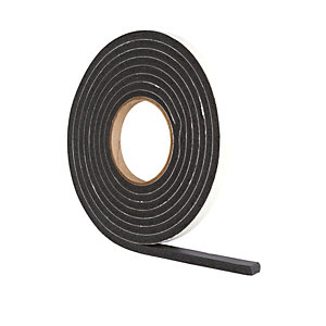 Wickes Extra Thick Draught Seal Black 3.5m