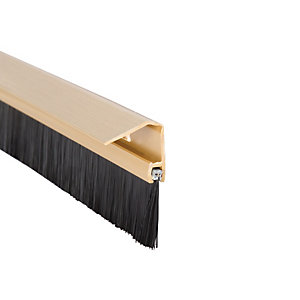Wickes Concealed Fixing Door Brush Draught Excluder Gold Effect 838mm
