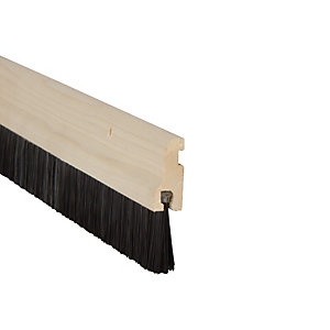 Wickes Door Brush Draught Excluder Wood 838mm