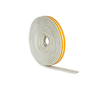 Wickes P Profile Rubber Draught Seal White 10m