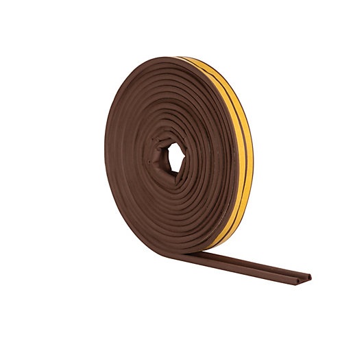 Wickes P Profile Rubber Draught Seal Brown 10m Wickes Co Uk