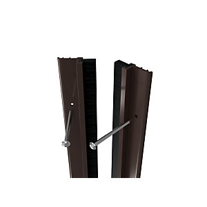 Wickes Full Door PVC Draught Excluder Brown 5028mm