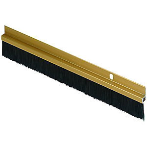 Wickes Door Brush Draught Excluder Gold Effect 838mm