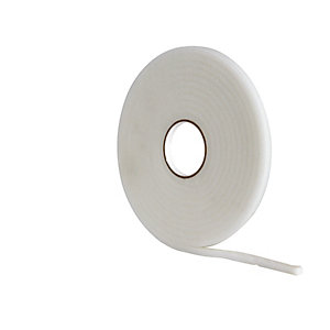 Wickes Soft Foam Draught Seal White 10m