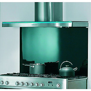 Rangemaster Elite Splashback Metalic Black 1100mm