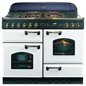 Rangemaster Classic 110 Dual Fuel Cooker White