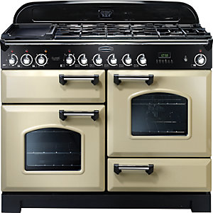 Rangemaster Classic Delux 110 Dual Fuel Cream & Chrome