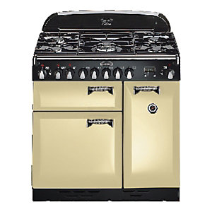 Rangemaster Elan 90 Dual Fuel Cooker Cream & Chrome