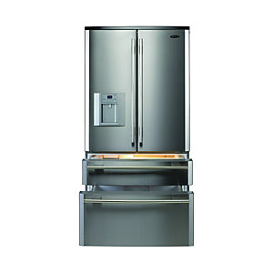Rangemaster 90150 DxD 910 Fridge Freezer Stainless Steel Chrome
