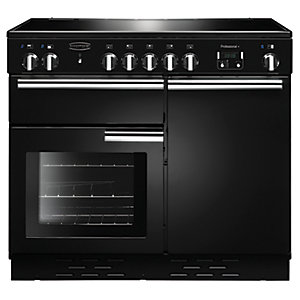 Rangemaster Professional + 100 Induction Range Cooker Black Gloss