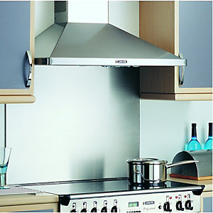 Rangemaster Splashback No Badge Stainless Steel 900mm