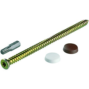 Wickes Frame Fixing Screws 7.5x132mm Pack 10