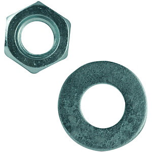 Wickes/Screws, Nails & Fixings/Nuts, Bolts & Washers/Wickes Nuts & Washers M8 Pack 10