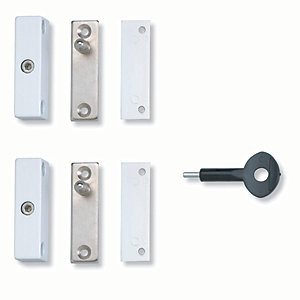 Yale P-2P118-WE-2 Automatic Window Lock Pack 2 White