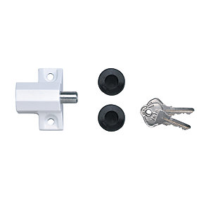 Yale P-114-WE Patio Door Lock White