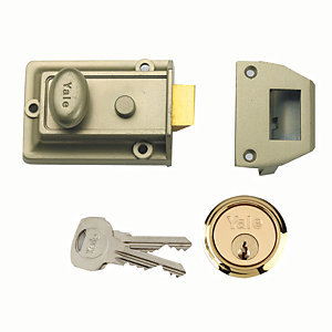 Yale P-77-ENB-PB-60 Traditional Nightlatch Green/Brass