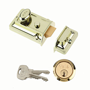 Yale P-77-BLX-PB-60 Traditional Nightlatch Brass