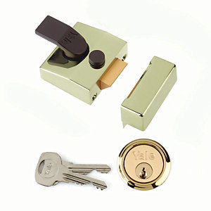 Yale P-85-BLX-PB-40 85 Deadlocking Nightlatch 40mm Brass