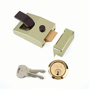 Yale P-89-BLX-PB-60 89 Deadlocking Nightlatch 60mm Brass
