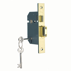 Yale P-M550-PB-65 5 Lever Sashlock 64mm Brass